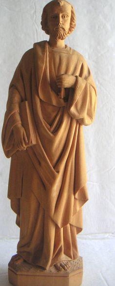 Vintage Wood Statue of Saint Peter San Pedro Catholic by QVintage, $25.00
