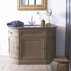 Meuble avec simple vasque en chêne 110 Louise