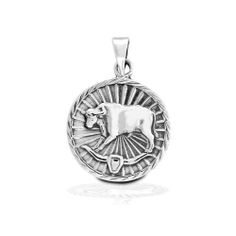 Bling Jewelry Sterling Silver Zodiac Taurus Large Medallion Pendant Bling Jewelry. $39.99. .8in pendant width. 4.5 grams. Chain is not included. .925 Sterling Silver. Taurus Jewelry