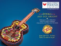 """Sa-Re-Ga-Ma-Di-Wa-Li High Street Phoenix celebrates a music themed Dazzling Diwali from 25th October to 5th November  This Diwali High Street Phoenix, the premier destination centre located at Lower Parel, is inviting you to their music themed annual property """"Dazzling Diwali"""". Spread over 12 days, from 25th October to 5th November, you can take part in a host of music, dance and art themed workshops along with a plethora of fun games, competitions and activities."""