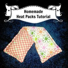 """A while ago I blogged about my """"famous"""" Homemade Heat Packs that I created. They started selling like crazy and many wanted to know exactly how to make them. Well, here you go! :) I promise, they're REALLY easy if you know the basics of a sewing machine... #crafts #essentialoil #fabric"""