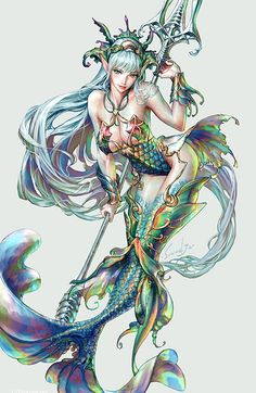 A mermaid is a legendary aquatic creature with the upper body of a female human and the tail of a fish.[1] Mermaids appear in the folklore of many cultures worldwide, including the Near East, Europe, Africa and Asia. The first stories appeared in ancient Assyria, in which the goddess Atargatis transformed herself into a mermaid out of shame for accidentally killing her human lover. http://en.m.wikipedia.org/wiki/Mermaid
