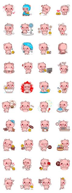 I am called 'Pigma', a cute cuddly pig. I will bring more excitement and fun to your chatting experience. Kawaii Drawings, Easy Drawings, Digital Stamps Free, Romantic Humor, Pig Character, Frog Drawing, Kawaii Tattoo, Pig Illustration, Funny Phone Wallpaper