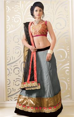 Picture of Magnificent Grey Color Designer Lehenga Choli