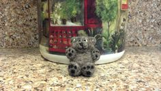 Needle-felted bear ornament --- made from 100% alpaca fiber!