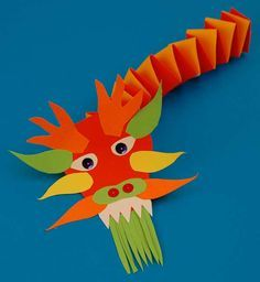 Chinese New Year. How art is used in cultural celebrations. paper sculpture PART 2 Chinese New Year Crafts For Kids, Chinese New Year Dragon, Chinese New Year Activities, Chinese New Year Decorations, Chinese Crafts, New Years Decorations, New Years Activities, Art For Kids, Literacy Activities