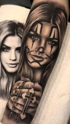 Top tattoo designs in the world: Tattoo designs .- Desenhos para tattoo e tatuagem mais top do mundo : Desenhos para tatoo,as tatua… Top tattoo designs and tattoo designs in the world: Tattoo designs, the world& most sealed tattoos … - Gangster Tattoos, Dope Tattoos, Bild Tattoos, Badass Tattoos, Chicano Tattoos Gangsters, Tattoo Girls, Skull Girl Tattoo, Girl Face Tattoo, Clown Tattoo