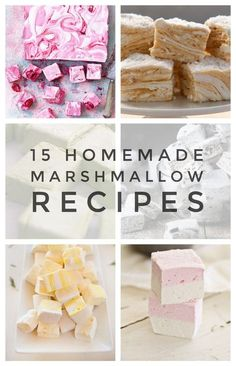- 15 Homemade Marshmallow Recipes that are a Perfect Dream It& a whirl of sugary delight! Marshmallows are so delicious when they are homemade. You need these 15 Homemade Marshmallow Recipes that are a perfect dream! Recipes With Marshmallows, Homemade Marshmallows, Marshmallow Recipes, Peppermint Marshmallows Recipe, Gourmet Marshmallow, Marshmallow Cake, How To Make Marshmallows, Homemade Sweets, Homemade Candies