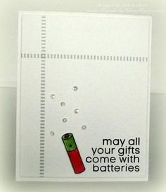Christmas Batteries by melissa1872 - Cards and Paper Crafts at Splitcoaststampers