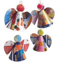 These Recycled Tin Angels are a great way to make use of your recycled materials. Create an upcycling craft that's a perfect Christmas ornament craft.