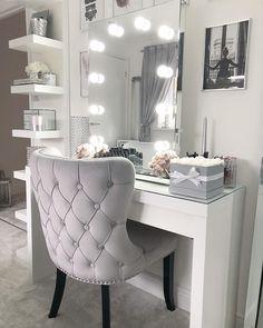 Vanity room design ideas 20 - home decor update Vanity Room, Vanity Mirrors, Vanity Chairs, Vanity Set, Bedroom With Vanity, Ikea Vanity, Small Vanity, Glam Room, Room Goals