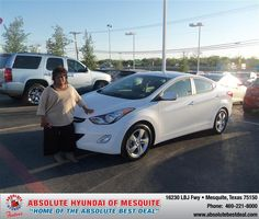 #HappyAnniversary to Carolyn R Taylor on your 2013 #Hyundai #Elantra from Ashleigh Rawson  at Absolute Hyundai!