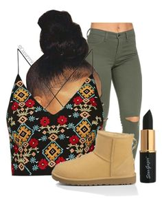 """""""Happy Thanksgiving . """" by dasannniii ❤ liked on Polyvore featuring Topshop and UGG Australia"""