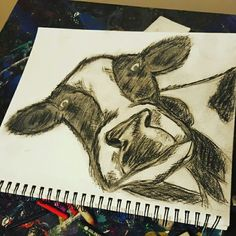 Cow pencil charcoal