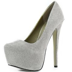 637cf5dcb075 Women s Pointy Toe Hidden Platform Stiletto Pump Silver Glitter Shoes