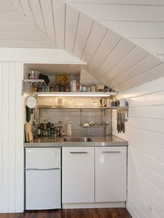 Studio Apartment Kitchen Ideas chic compact kitchen for a small space - a great idea for a studio