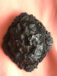 Victorian Mourning Brooch Pressed Horn by victoriansentiments on Etsy