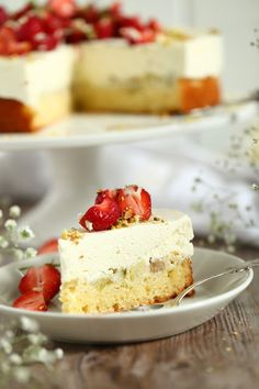 Piece Of Cakes, No Bake Desserts, Vanilla Cake, Food Inspiration, Cheesecake, Food And Drink, Baking, Kite, Cheesecakes