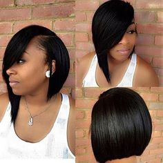 Brazilian Straight Hair Short Bob Cut Wigs Adjustable Pre Plucked top lace Closure Bob Cut Human Hair Wigs For Black Women Wholesale worldwide shipping factory cheap price on sale Quick Weave Hairstyles, Short Bob Hairstyles, Wig Hairstyles, Bob Haircuts, Relaxed Hairstyles, Black Hairstyles, Natural Hair Styles, Short Hair Styles, Bob Styles