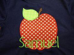 Fall Apple Applique T-shirt