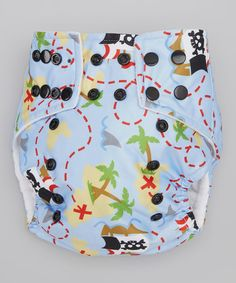Take a look at the Lotus Bumz Purple Pirate Pocket Diaper on #zulily today!