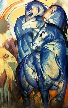 Franz Marc - The tower of the blue horses