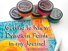Video exploring how Dylusions paints work in my art journal