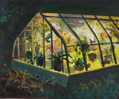 """Jeremy Miranda, """"Greenhouse at Night"""""""
