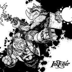 Inktober - Day Ten - Beebop and Rocksteady by CJEdwardsArt on DeviantArt Bebop And Rocksteady, Coloring Pages, Coloring Stuff, Joker And Harley, Teenage Mutant Ninja Turtles, Tmnt, Ufo, Inktober, Nerdy