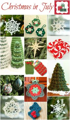 Christmas in July ... And Free Christmas Crochet Patterns | Petals to Picots