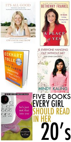 five books to read in your 20's #books www.newpublisherhouse.com