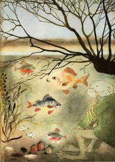 To The Children ~ by Czech lyric poet František Halas and illustrated by Ota Janeček. Prague 1961.