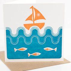 This ocean print would look great around a Kerchoo