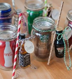 Christmas gifts in a jar pinterest