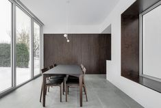 Appareil Architecture adds white dining annex to Waterloo Residence in Montreal Detail Architecture, Mim Design, Timber Cladding, House Extensions, Brutalist, Architect Design, Minimalist Home, Ground Floor, Living Spaces