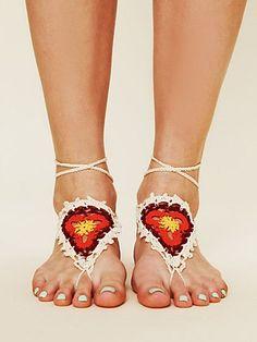 Free People Crochet Sun Foot Tie