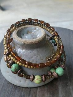 Check out this item in my Etsy shop https://www.etsy.com/listing/546856151/2-boho-bangle-memory-wire-green