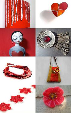 Red heart by Rincon del caracol on Etsy