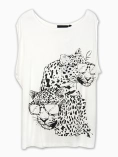 Sunglasses Leopard Print T-shirt | Choies