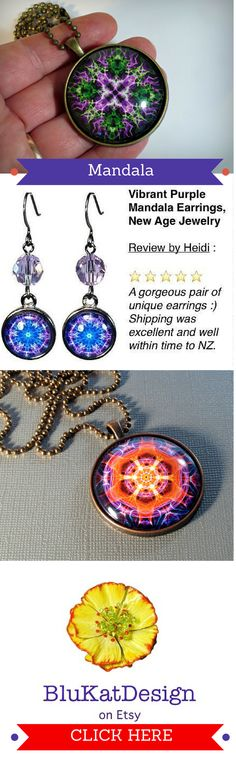 Find #NewAge mandala jewelry, necklace pendants, earrings here: http://etsy.me/1FAW7De