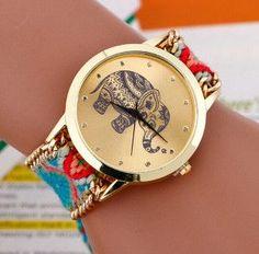 Fashion Elephant Pattern Women Dress Watches