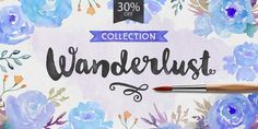 Wanderlust Basic Collection, font by Cultivated Mind. Wanderlust Basic Collection can be purchased as a desktop and a web font. Great Fonts, Cool Fonts, New Fonts, Handwritten Fonts, Typography Fonts, Script Fonts, Wanderlust Font, Wanderlust Travel, Paint Font