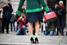 STREET STYLE OF FASHION MONTH: FASHIONISTAS AT PFW  Photo: I'M KOO — with Natalie Joos.