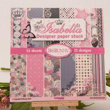 24 hoja / lot nuevas llegadas patrón de flor de mariposa creativo papercraft papel de arte hechos a mano scrapbooking kit set libros(China (Mainland))