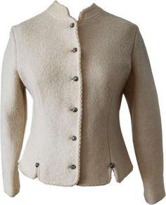 Lovely White Loden Jacket (S-M)