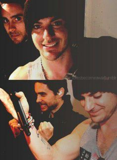 Leto Bros my gawd look at Shannon's smile! Thirty Seconds, 30 Seconds, Martian Man, Jered Leto, Life On Mars, Shannon Leto, Just Jared, Famous Celebrities, A Good Man