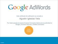 Certificado de Google Adwords Conocimientos Avanzados sobre Informes y Análisis