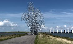 Antony Gormley - Exposure, built in the Netherlands, took Scottish pylon-makers and Dutch engineers six years to complete