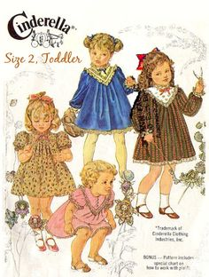 80s TODDLER GIRLS DRESS Sewing Pattern 1982 by KeepsakesStudio