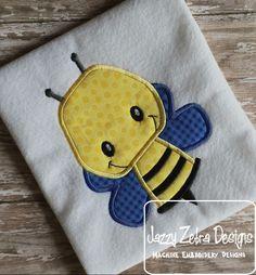 Bumble Bee 70 Applique Design: Jazzy Zebra Designs
